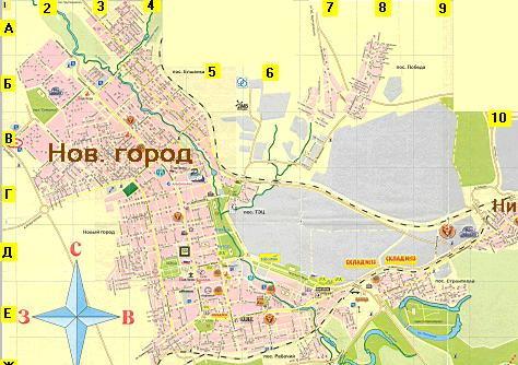 Карта Города Орска