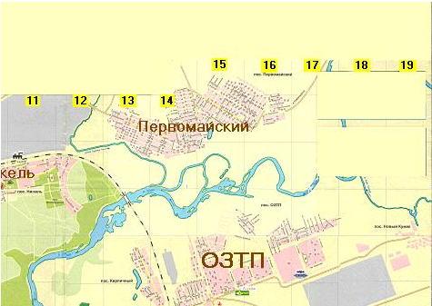 Карта-схема города Орска.